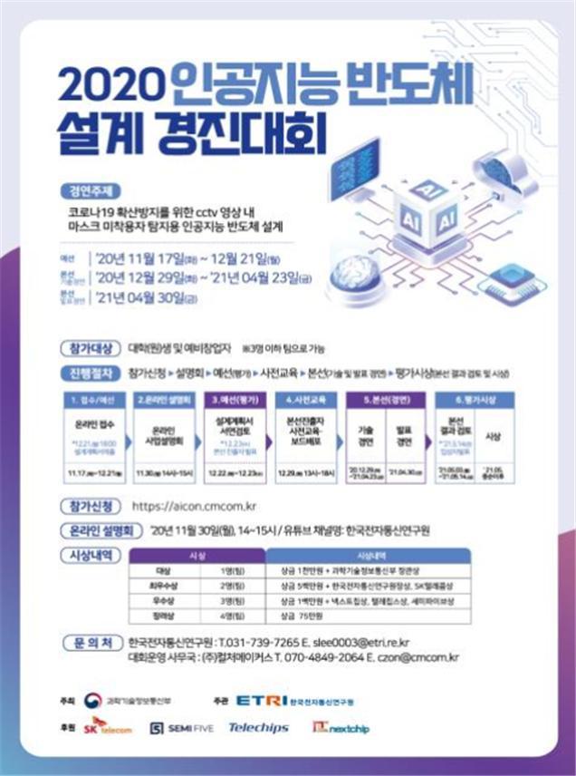 '2020 AI 반도체 설계 경진대회' 포스터