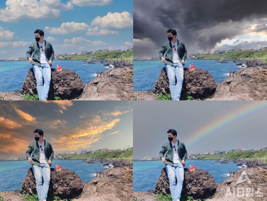 포토샵 하늘 대체 기능을 사용하면 손쉽게 사진의 하늘을 바꿀 수 있다. (사진=김동원 기자)